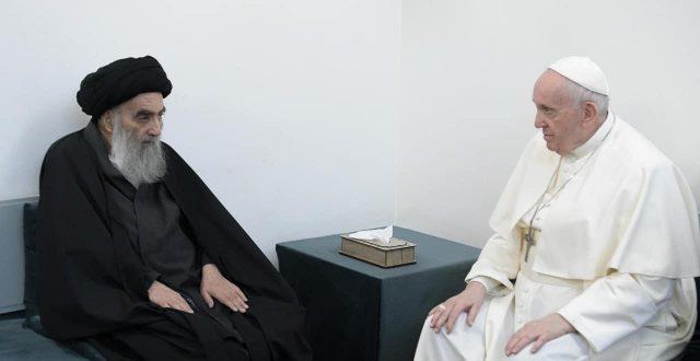 بعد زيارة البابا له.. كوكل يسجل اكثر من مليار باحث عن النجف الاشرف وعن السيد السيستاني