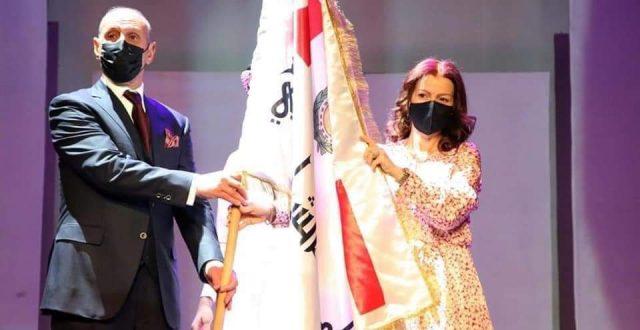 درجال يتسلم راية بغداد عاصمة الشباب العربي 2021