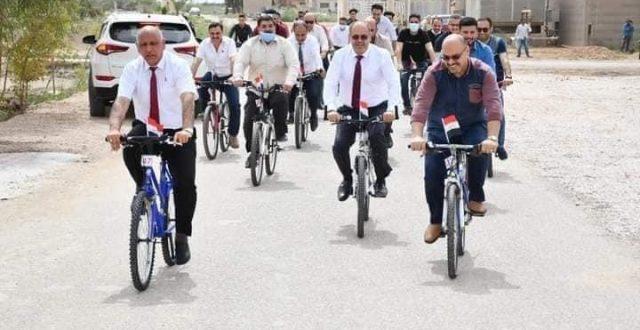 """رئيس جامعة الفرات الأوسط التقنية يطلق مبادرة النقل الأخضر GREEN  TRANSPORT """"صور"""""""