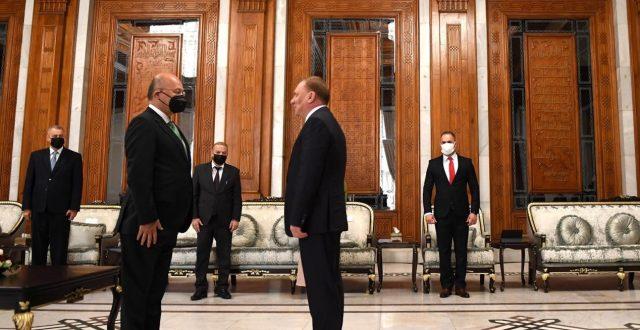 رهم صالح خلال استقباله نائب رئيس حكومة روسيا: المنطقة بحاجة لتخفيف اختلالاتها وتوتراتها واستقرار العراق مرتكز لأمن كل المنطقة