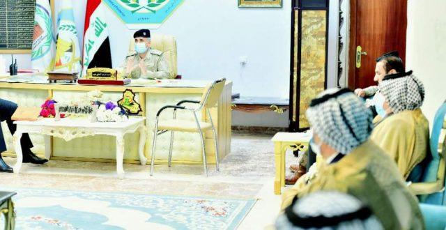 وكيل وزارة الداخلية لشؤون الشرطة يستقبل وفد من شيوخ عشائر محافظة المثنى