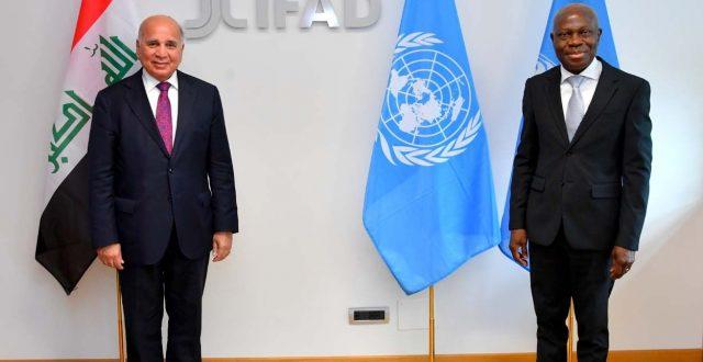 وزير الخارجيَّة يلتقي رئيس الصندوق الدولي للتنمية الزراعية في روما
