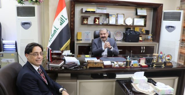 مدير عام المعارض العراقية يلتقي المستشار التجاري المصري