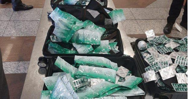 ضبط أدوية بشرية ممنوعة بحوزة مسافر صيني