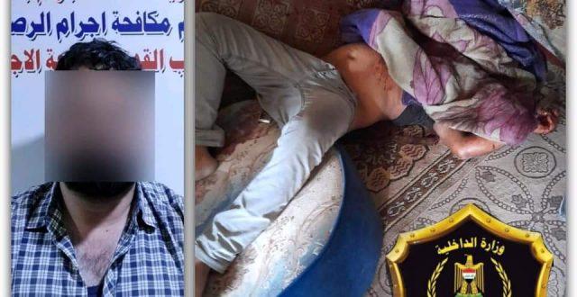 إجرام بغداد تكشف جريمة قتل مقترنة بالسرقة وتلقي القبض على منفذها