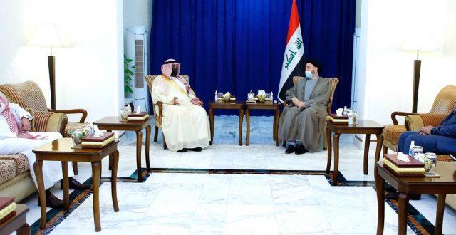 الحكيم يبحث مع السفير السعودي تطورات المشهد السياسي ويشيد باللغة الايجابية بين طهران والرياض