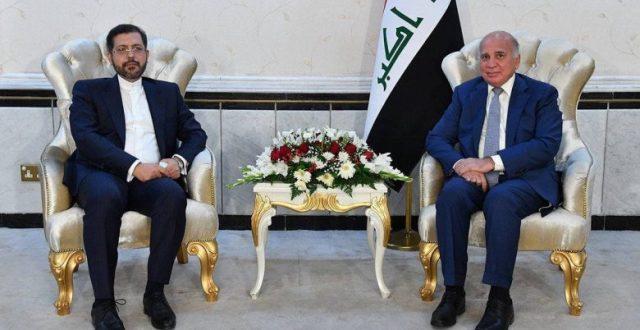 فؤاد حسين يستقبل المتحدث باسم الخارجية الإيرانية ويبحث العلاقات الثنائية بين البلدين