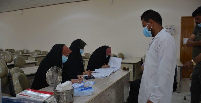 جامعة جابر بن حيّان الطبية تجري حملة تلقيح لملاكها التدريسي والإداري للوقاية من فايروس كورونا