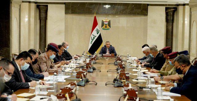 القائد العام للقوات المسلحة السيد مصطفى الكاظمي يترأس اجتماعا للمجلس الوزاري للامن الوطني