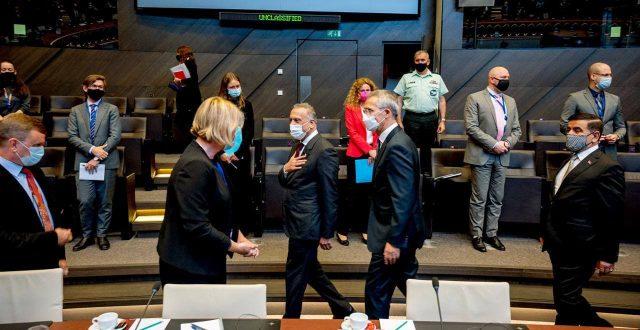 """الكاظمي يجتمع بالممثلين الدائميين للدول الأعضاء بحلف """"الناتو"""" في بروكسل"""