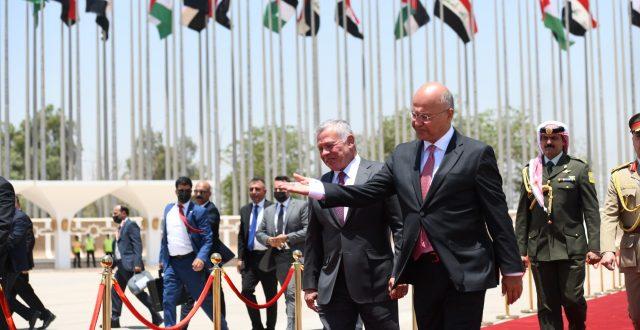 """ملك الأردن عبد الله الثاني يصل بغداد """"صورة"""""""