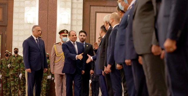 الكاظمي يجري مراسم استقبال رسمية للرئيس المصري السيسي في بغداد