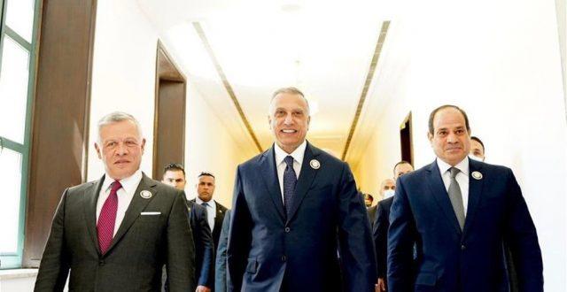 الكاظمي يودع السيسي والعاهل الأردني
