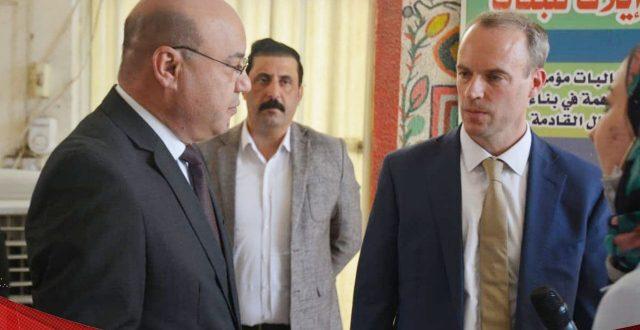 """في ضيافة الرصافة الثانية ببغداد .. وزير الخارجية البريطاني يتفقد نتائج برنامج """"بناء القدرات في التعليم"""""""