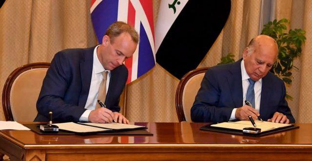 وزير الخارجية البريطاني يصل الى بغداد ويوقع مذكرة تفاهم