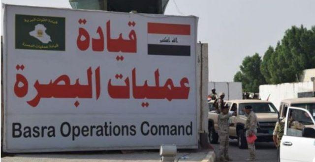 عمليات البصرة تعلن وصول تعزيزات عسكرية إلى قواطع المحافظة