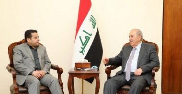 قاسم الاعرجي وعلاوي يؤكدان على أهمية تعزيز الأمن والاستقرار في العراق
