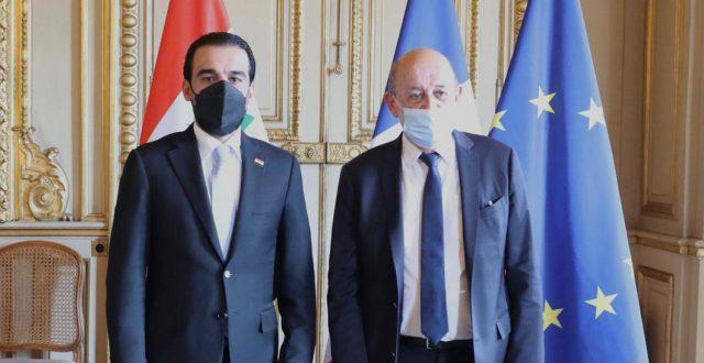 رئيس مجلس النواب يلتقي وزير الخارجية الفرنسي