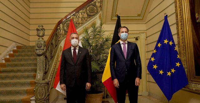 الكاظمي يلتقي رئيس وزراء بلجيكا لبحث سبل تعزيز التعاون بين البلدين