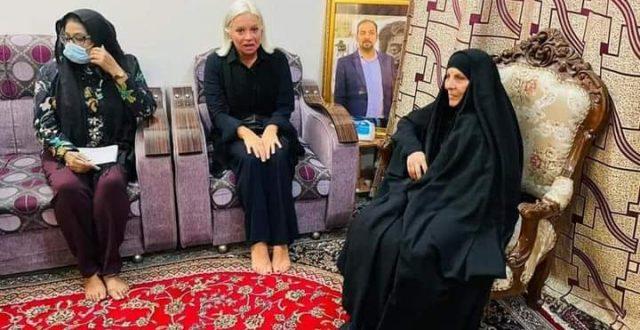 شاهد بالصورة.. بلاسخارت في بيت الشهيد ايهاب الوزني