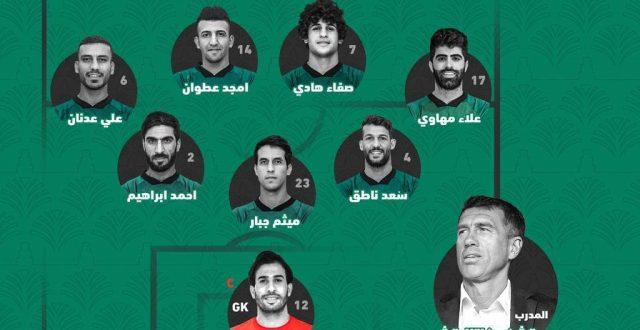 بالصورة.. تشكيلة منتخبنا الوطني لمواجهة إيران