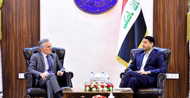 الغزي يستقبل مدير مكتب المنظمة الدولية للهجرة في العراق