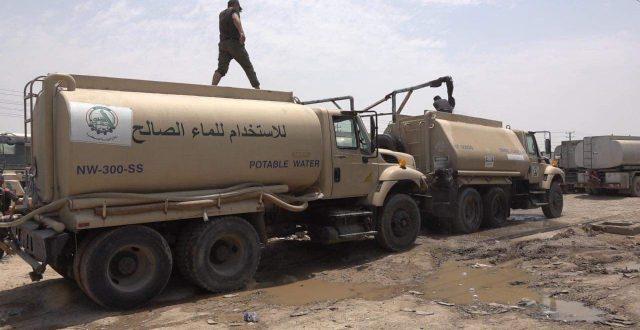 الحشد الشعبي يطلق حملة للقضاء على أزمة المياه بمناطق جنوب شرق بغداد