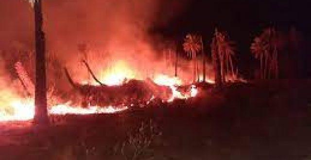 اندلاع حريق ضخم قرب انبوب نفطي شمالي ذي قار