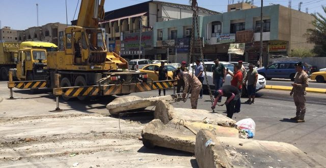 """عمليات بغداد تواصل فتح شَوَارِع مغلقة في العاصمة """"صورة"""""""