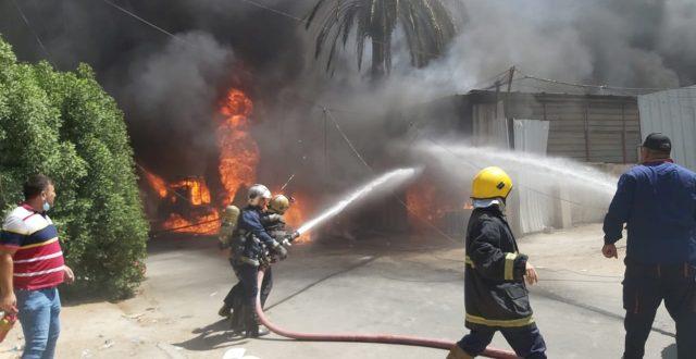 السيطرة على حريق سوق الشعلة..والدفاع المدني يتحدث عن صعوبات