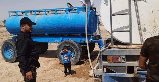 بالصور.. الحشد الشعبي يطلق حملة لايصال المياه الى جنوب غرب الموصل