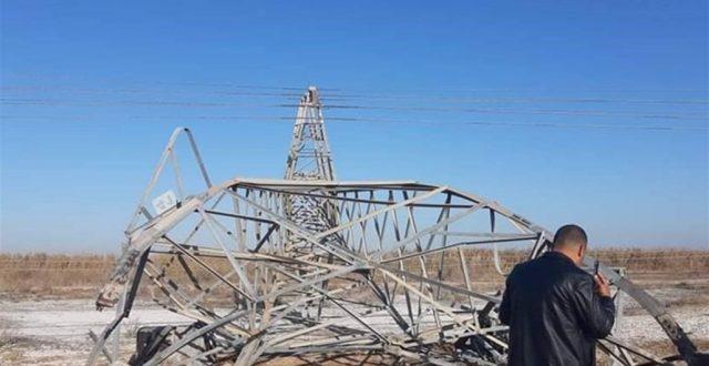 """بـ نينوى وكركوك"""".. تعرض 3 خطوط لنقل الطاقة الكهربائية لأعمال تخريبية"""