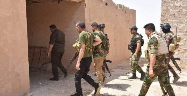 """الحشد الشعبي يدمر مضافة لـ""""داعش""""الارهابي في صلاح الدين"""
