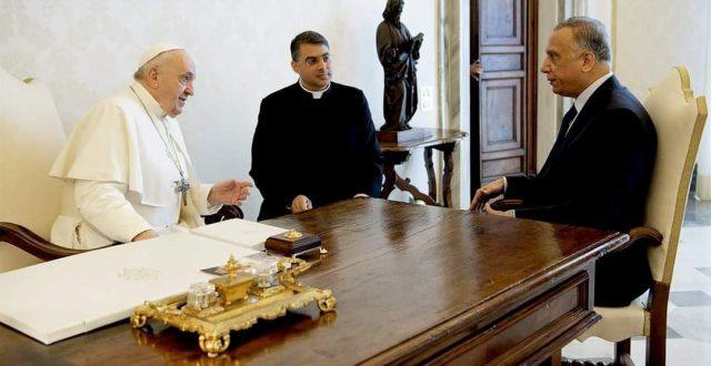 الكاظمي يلتقي قداسة البابا فرانسيس