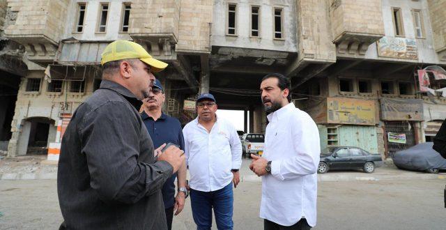 بالصور .. الحلبوسي يجري جولة ميدانية في ايمن الموصل