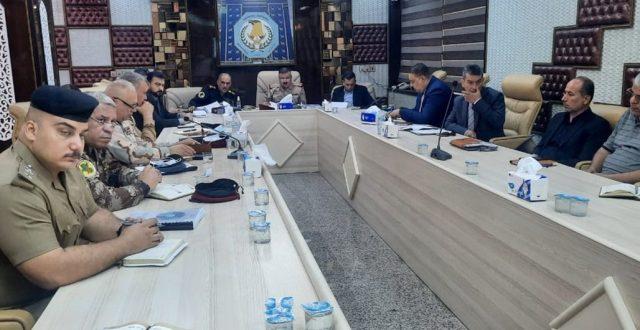 وصول اللجنة الأمنية العليا للانتخابات الى بابل (صور)
