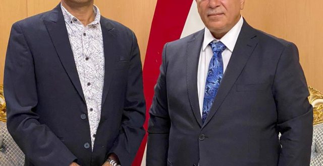 رئيس دائرة آسيا يستقبل السفير الهندي الجديد لدى بغداد