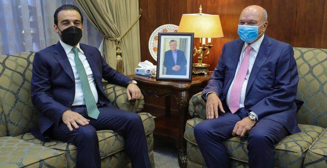 الحلبوسي يلتقي رئيس مجلس الاعيان الاردني