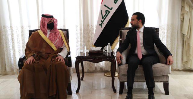 الحلبوسي يستقبل وزير الداخلية السعودي ويؤكد اهمية الاسراع بتنفيذ الاتفاقيات بين البلدين