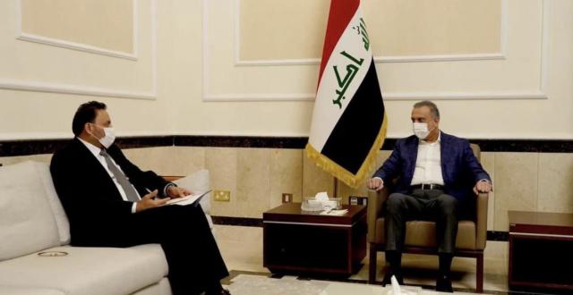 رئيس الوزراء مصطفى الكاظمي يستقبل النائب الأول لرئيس مجلس النواب حسن الكعبي