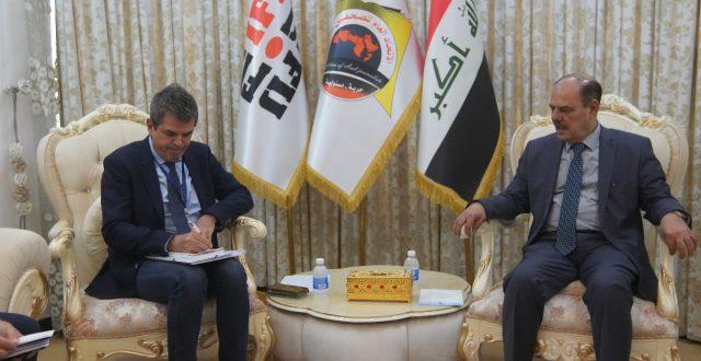 المستشار الإعلامي لبعثة الاتحاد الأوربي في العراق يشيد بالدور الفاعل لنقابة الصحفيين العراقيين