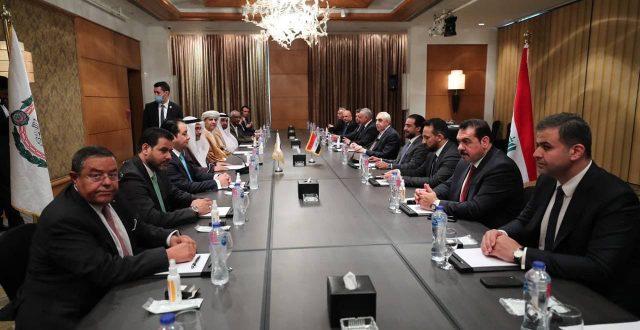 الحلبوسي يلتقي رئيس البرلمان العربي لبحث تطورات الاوضاع في المنطقة