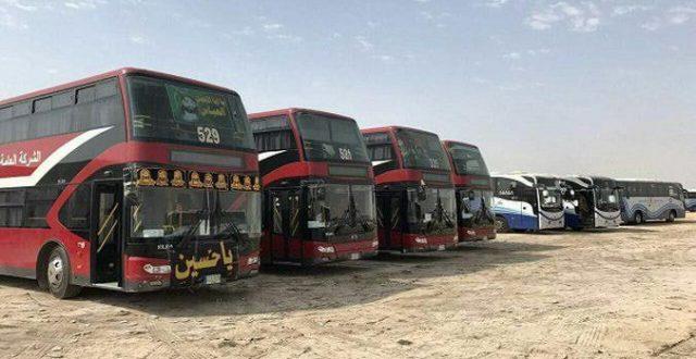 النقل…تعلن إشراك ألف حافلة لنقل زائري الأربعينيَّة