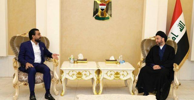 الحكيم يستقبل رئيس مجلس النواب محمد الحلبوسي ويبحث معه تطورات المشهد السياسي