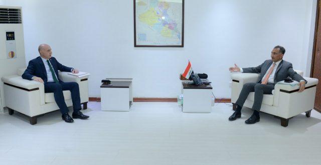 الوكيل الأقدم لوزارة الخارجية يستقبل السفير التركي لدى بغداد