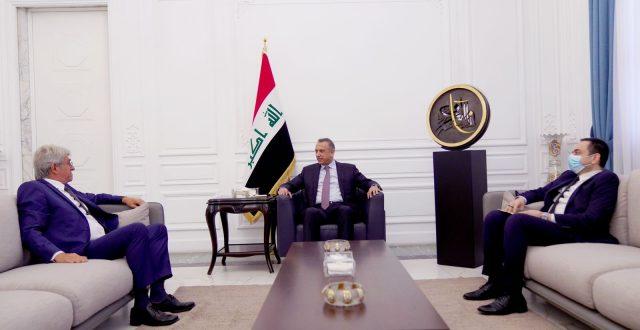 الكاظمي يلتقي السفير الفرنسي لدى العراق