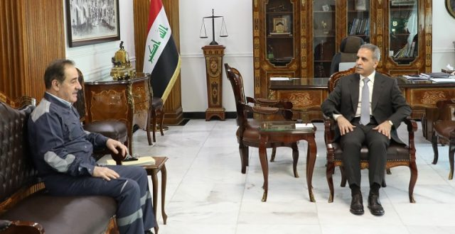 رئيس مجلس القضاء الاعلى يستقبل وزير الكهرباء