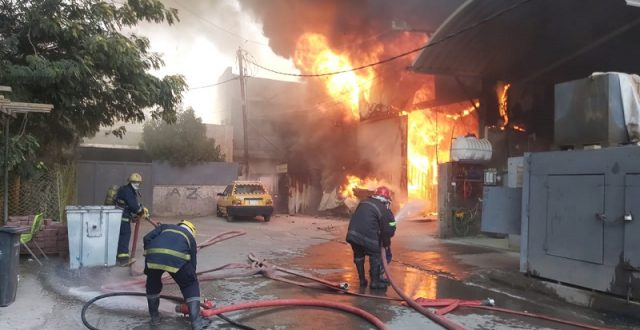 اندلاع حريق داخل كرفانات تابعة لمستشفى أهلي وسط بغداد
