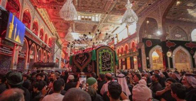 بالصور.. تشييع رمزي لنعش الامام الحسن {ع} في كربلاء المقدسة