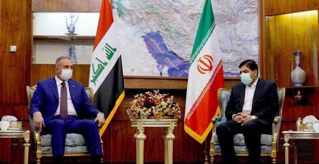الكاظمي يلتقي النائب الأول لرئيس الجمهورية الإسلامية الإيرانية